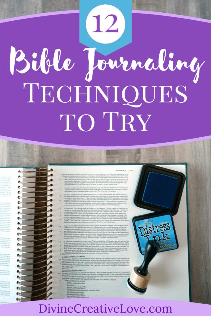 Bible journaling techniques