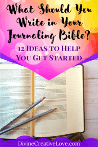 what to write in a Bible journal