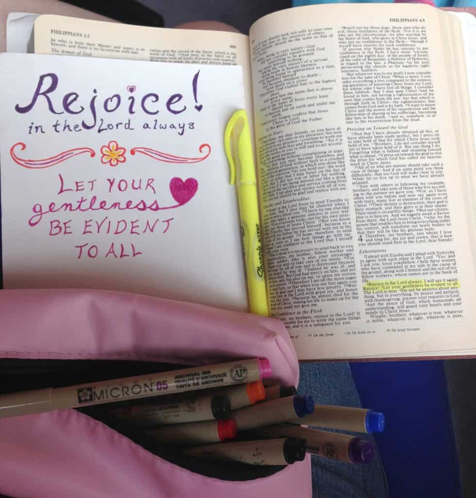 my first Bible art – Bible marking pens