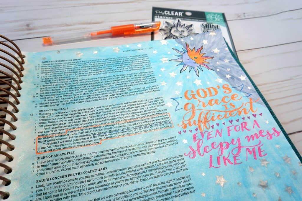 God's grace is sufficient - Bible journaling