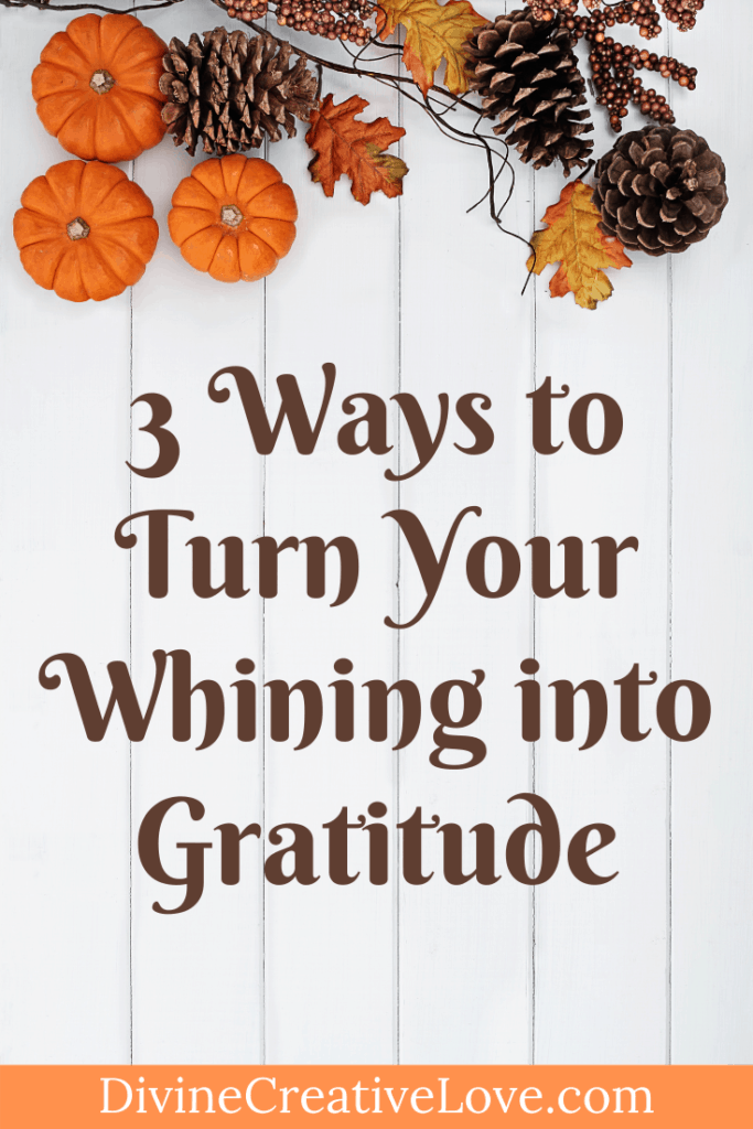 Turn Your Whining into Gratitude