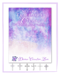 printable traceable crosses for Bible journaling
