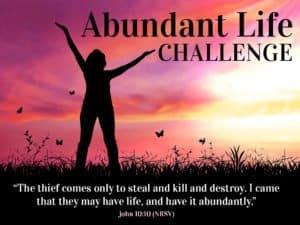 Abundant Life Challenge John 10:10