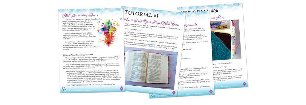 Bible Journaling e-book intro and tutorials