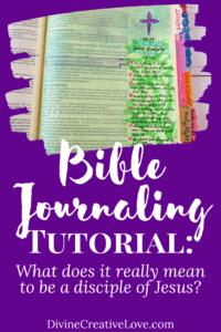 Bible journaling tutorial on Matthew 16:24-25