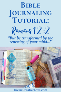 Bible journaling tutorial - Romans 12:2