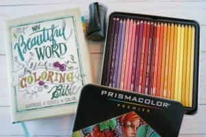 Bible journaling and colored pencils