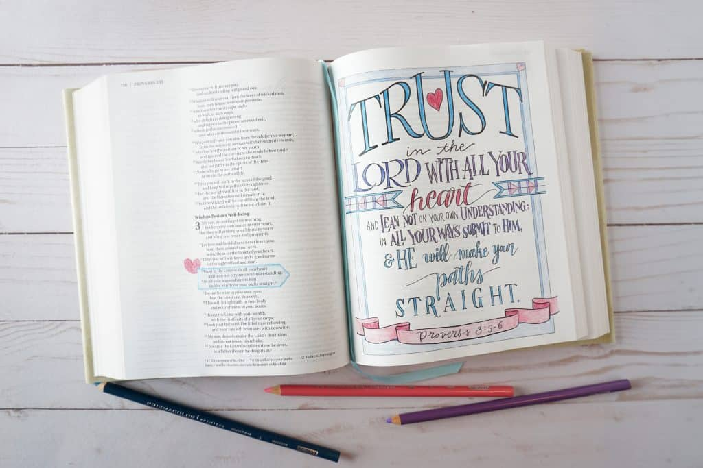 Beautiful Word Coloring Bible - Proverbs 3:5-6