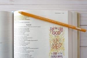 Beautiful Word Coloring Bible close up