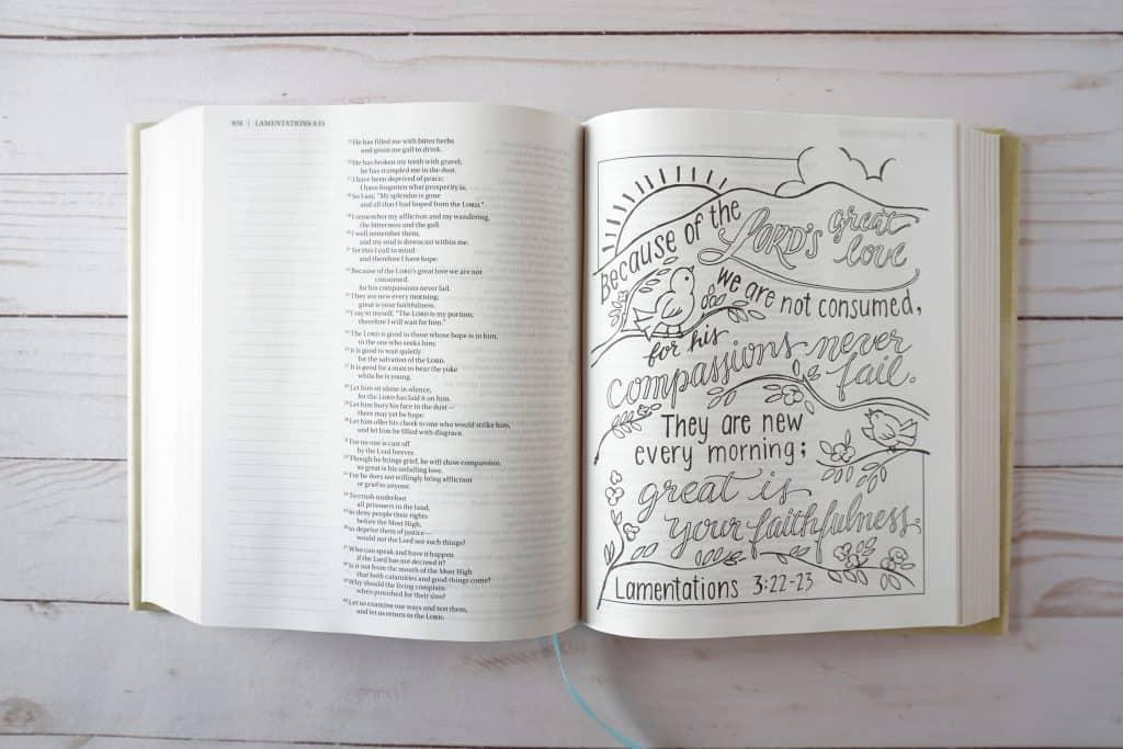 Beautiful Word Coloring Bible - Lamentations 3:23