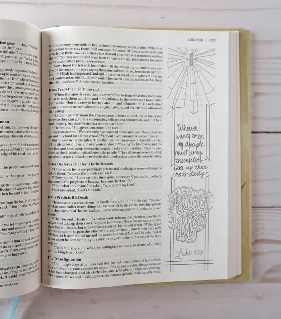 Beautiful Word Coloring Bible - Luke 9:23
