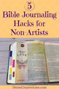 Bible journaling for non artists