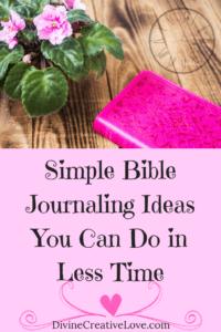 Bible journaling ideas