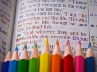 Bible colored pencils