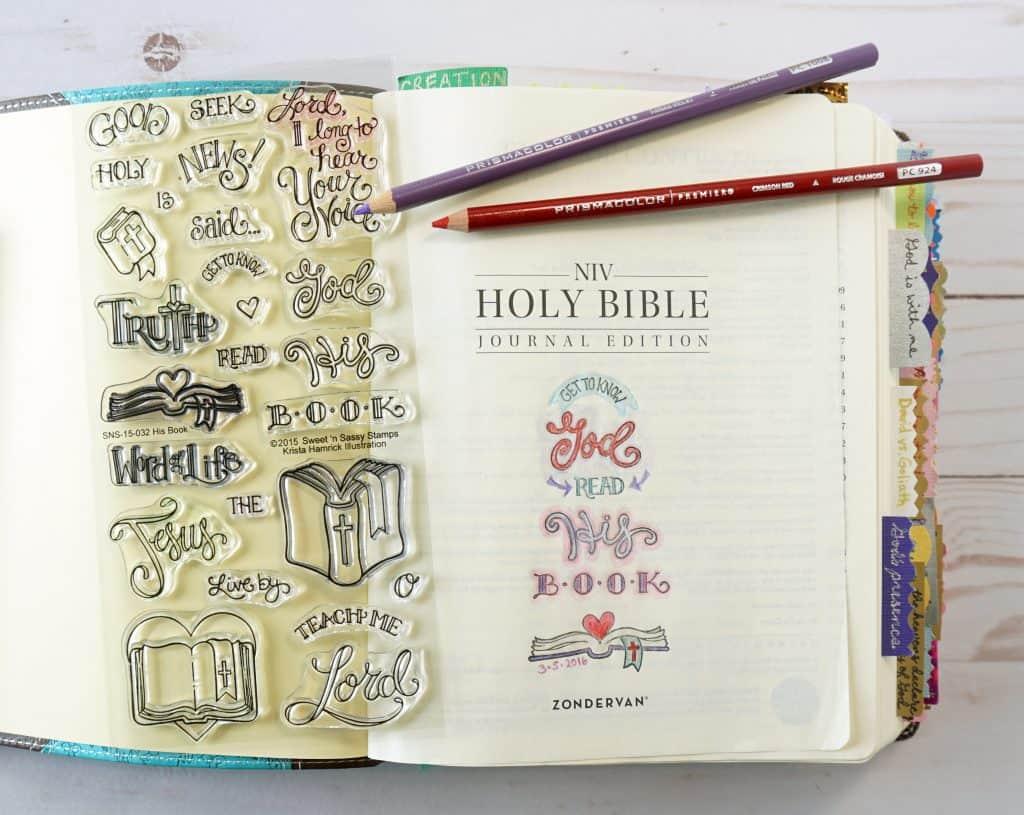 Bible journaling - His Book stamp set