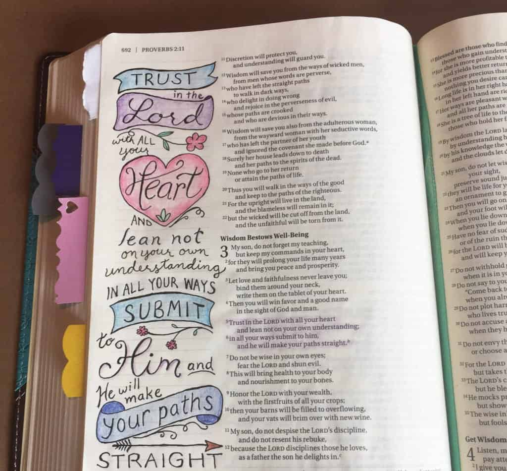Bible journal - Proverbs 3:5-6