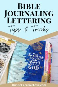 Bible journaling lettering