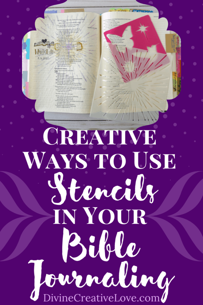 Bible journaling with stencils