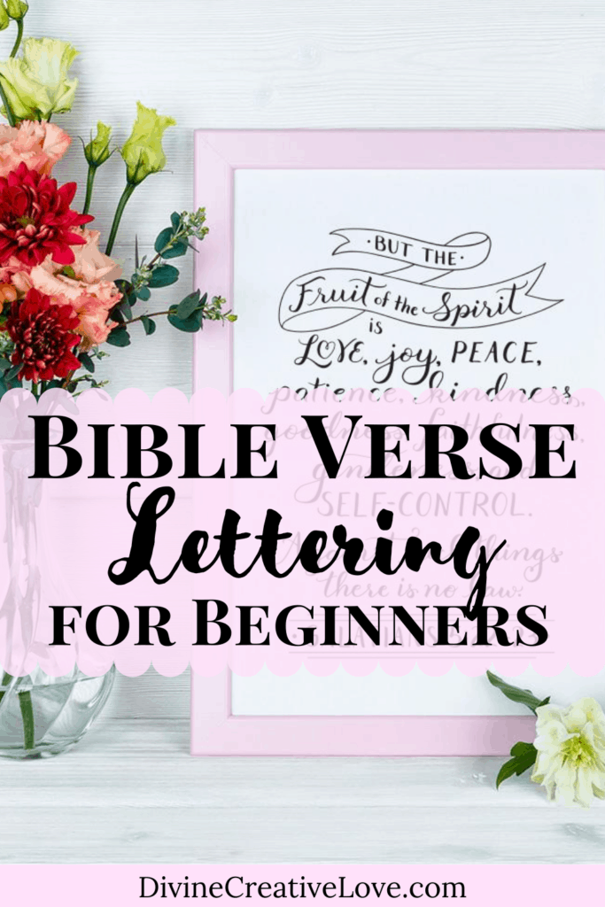 Bible lettering for beginners