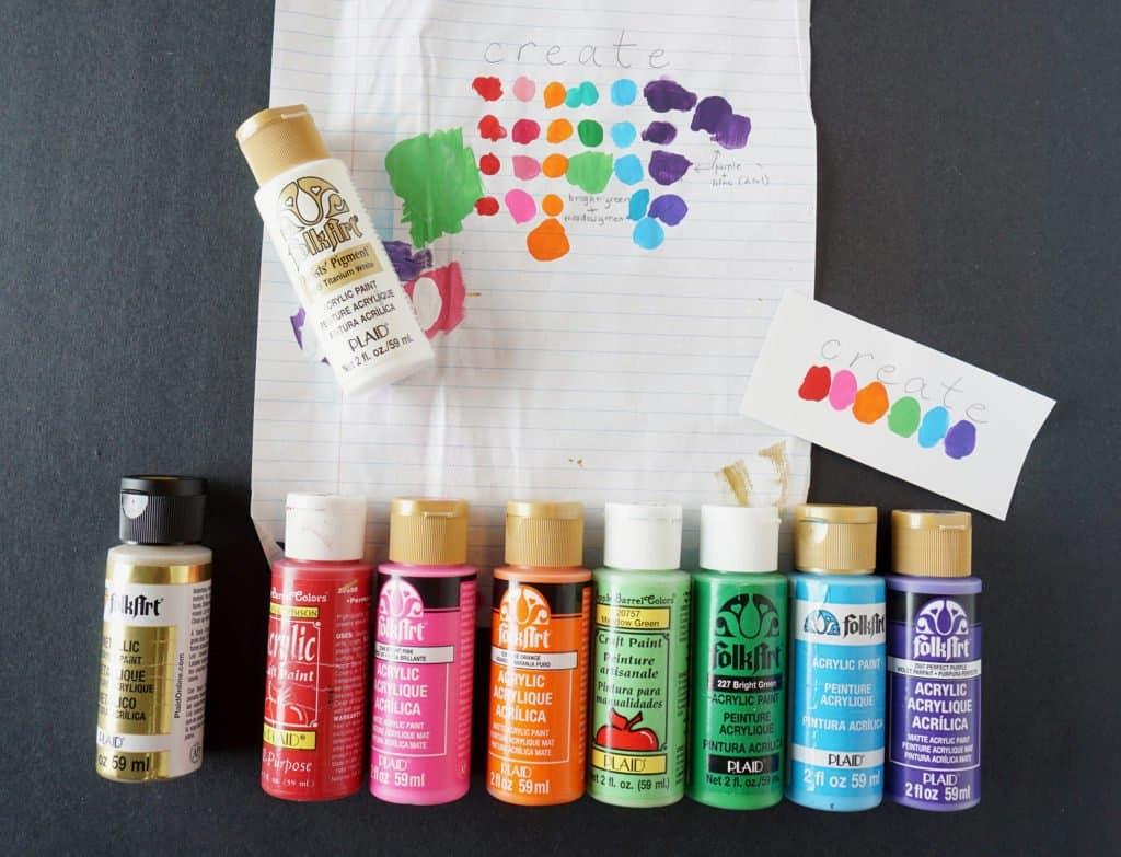 acrylic paint colors
