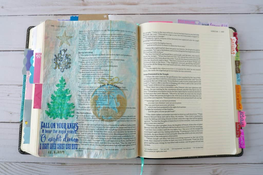 Christmas Bible journaling tutorial