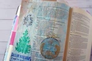 Luke 2 - O Holy Night Bible journal