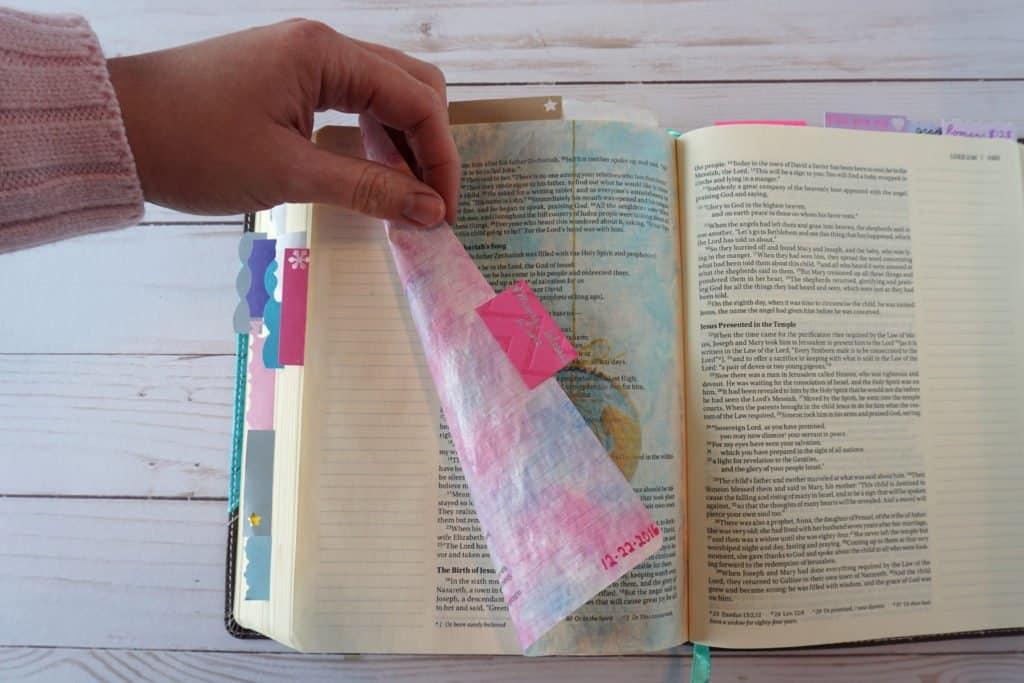 Bible art journaling examples