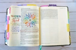 Bible journaling - work as for the Lord