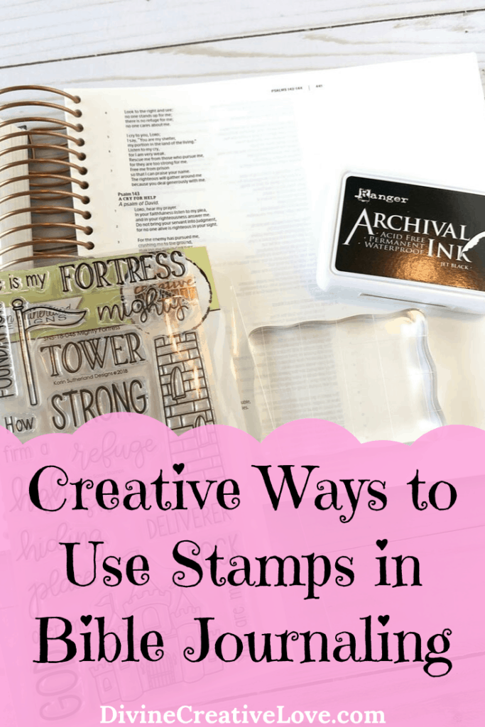 Creative Ways to Use Stamps in Bible Journaling