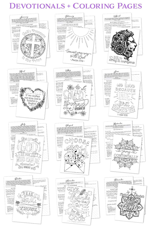 Divine Faith Devotionals with coloring pages