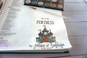 Bible journaling with Finetec metallic watercolors