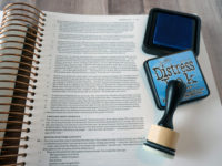 journaling Bible with Distress Inks