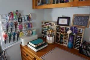 craft desk organization - left side