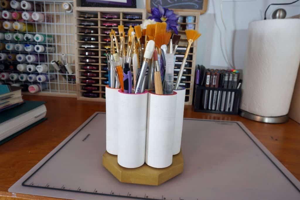 rotating brush organizer by CraftInnovations on Etsy