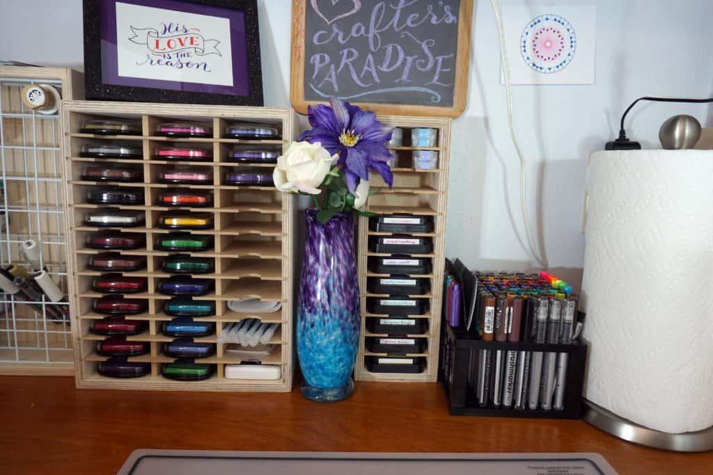 craft desk center - ink pad organizers