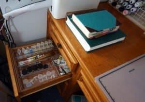 craft desk - left hand drawer