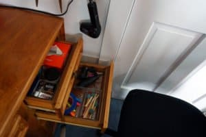 craft desk - right hand drawers