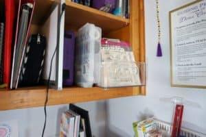 craft desk - shelf