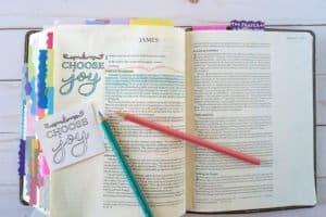 Bible journaling printables - choose JOY