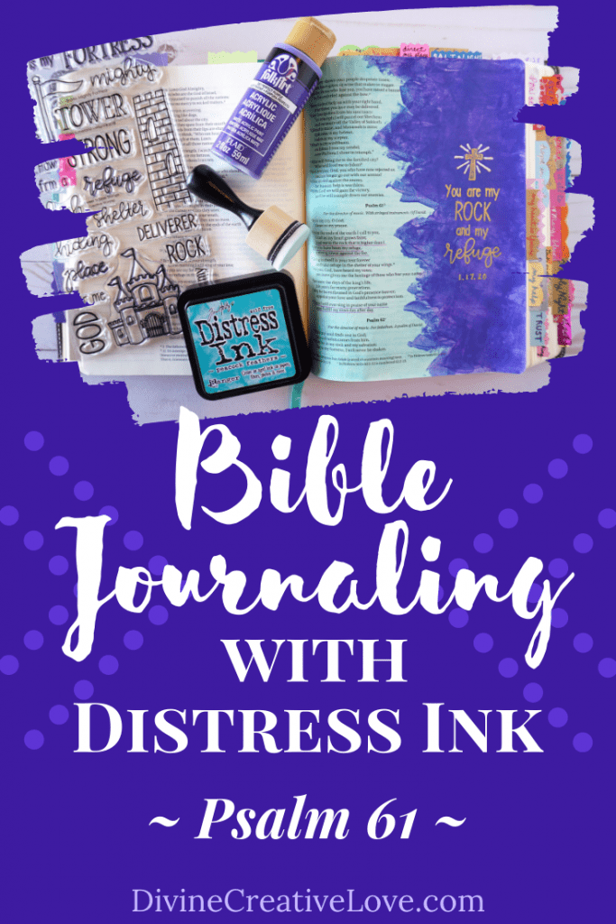 Bible journaling Distress Ink