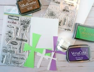 Easter card making supplies