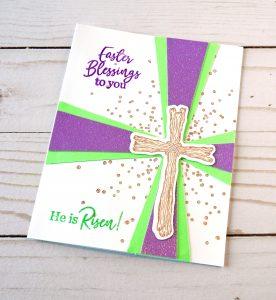 homemade Easter card - He is risen