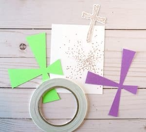 how to make a religious Easter card
