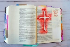 Easter Bible journal - at the cross