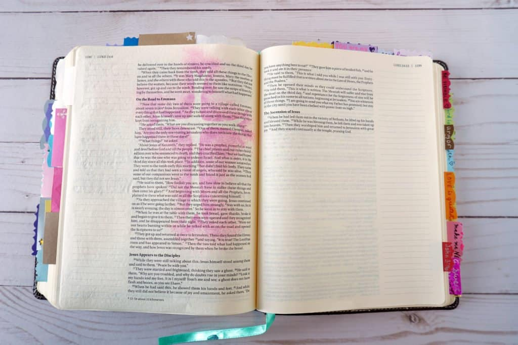 Bible journaling cross
