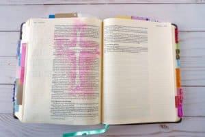 Bible journaling cross
