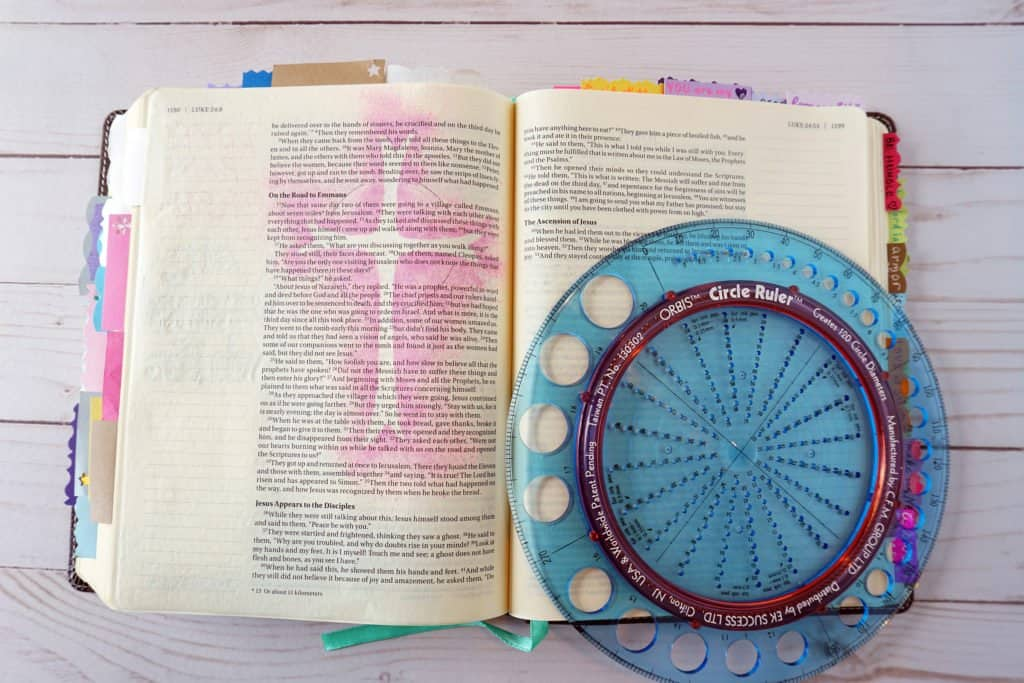 Bible journaling tutorial