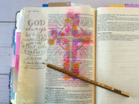 Bible journaling examples - floral cross