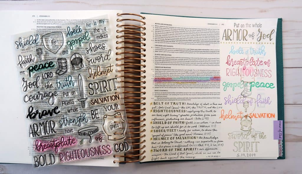 Bible journaling - armor of God stamp set