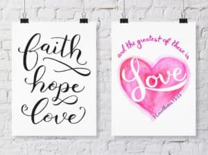 Divine Creative Love - faith hope love art